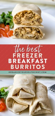 These healthy breakfast burritos can be thrown together in a snap. Even better? Make a batch of these frozen burritos and keep them on hand for a quick, protein-fueled breakfast in the mornings. Organize Yourself Skinny Healthy Meal Prep Recipes Quick Healthy Breakfast, Healthy Breakfast Smoothies, Delicious Breakfast Recipes, Healthy Work Snacks, Healthy Breakfasts, Quick Snacks, Healthy Foods To Eat, Healthy Freezer Meals, Healthy Meals For Two