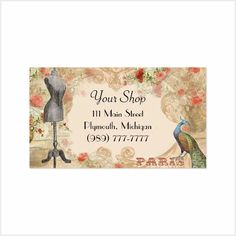 Seamstress Business Cards