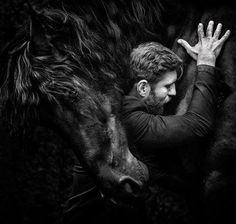 Amazing portrait on a horse! Awesome black and white! Horse Fashion Photography Learn about Equine Photography, Wildlife Photography, Amazing Photography, Monochrome Photography, Black And White Photography, International Photography Awards, Man On Horse, Montage Photo, Photography Contests