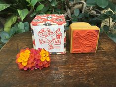 Japanese New Year's Greetings Rubber Stamp Hanko 賀正 Happy New Year Japanese New Year, Japanese Calligraphy, New Year Greetings, Happy New Year, Vintage Items, Banner, Chinese, Stamp, Handmade