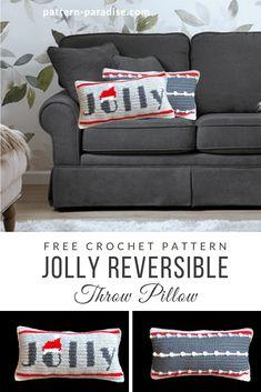 Crochet Cushion Cover, Crochet Pillow Pattern, Crochet Cushions, Tapestry Crochet, Blanket Crochet, Christmas Crochet Patterns, Holiday Crochet, Christmas Crochet Blanket, Crochet Granny Square Afghan