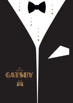 The Great Gatsby (2013) ~ Minimal Movie Poster by David O'Mara #amusementphile