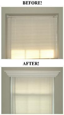 Best Wallpaper Ideas: Add crown molding to the top of a window frame for a serious yet simple face lift!