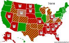 Joe. My. God.: Updated Marriage Map