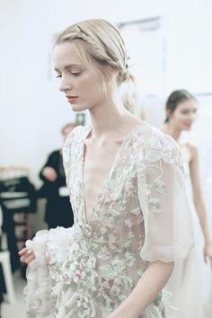 Daria Strokous backstage @ Valentino Couture Spring 2013 by Lea Colombo