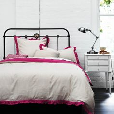 Maison Ruffle Beetroot King bed quilt cover http://www.aurahome.com.au/s