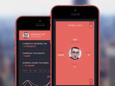 UI / UX   Profile Screen   iPhone App by Marian Pop