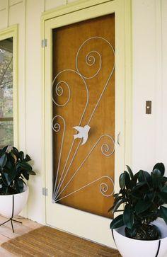 Hip Haven - Vintage Style Screen Door Insert, $250.00 (http://www.hiphaven.com/vintage-style-screen-door-insert/)