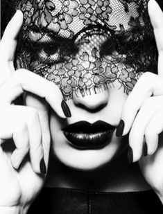 Black and White Fashion Photography | ben hassett via cba fashion lace mask in black and white photography ...