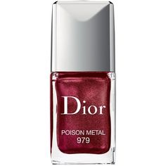 Dior Vernis Gel Shine & Long Wear Nail Lacquer ($27) ❤ liked on Polyvore featuring beauty products, nail care, nail polish, poison metal, gel nail color, christian dior, gel nail care and christian dior nail polish