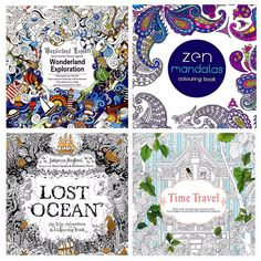 Mandalas +Time travel+Lost Ocean+Explore Wonderland Coloring Books For Adults Kids Relieve Stress Graffiti Painting Drawing Pintura Graffiti, Graffiti Painting, Painting For Kids, Painting & Drawing, Children Painting, Time Painting, Ocean Drawing, Garden Painting, Painting Flowers