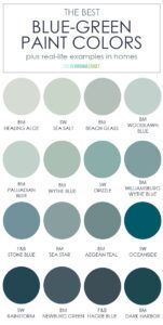 The Best Blue Green Paint Colors Blue Green Paints, Green Paint Colors, Paint Colors For Home, Wall Colors, House Colors, Sage Green Paint, Green Wall Color, Best Paint Colors, Colors For Walls