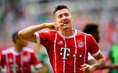 Download imagens O Bayern De Munique, Robert Lewandowski, estrelas do futebol, meta, Bundesliga, futebol, jogadores de futebol