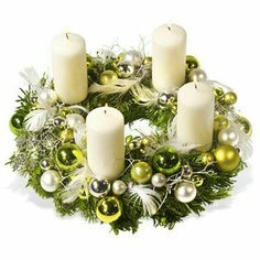 – a unique product by Gabi-Dekotraum on DaWanda Christmas Flower Decorations, Christmas Advent Wreath, Christmas Flower Arrangements, Christmas Table Centerpieces, Christmas Candles, Christmas Themes, Christmas Crafts, Advent Wreaths, Christmas Feeling