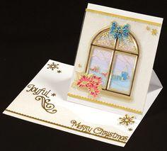 Glittering Easel Cutaway Card