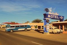 Still open and thriving on Route 66 - follow them on Facebook!! Love this photo