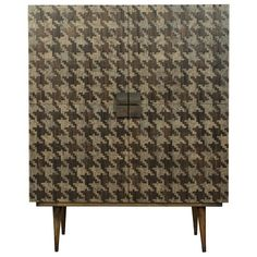 Gallo Bar | Houndstooth Cabinet | Taracea Furniture | Interior Design | New Products | High Point Market