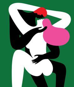 """The best sex of my life"" illustraton for The Guardian Flat Illustration, Illustrations, Fashion Installation, Human Art, Portrait Art, Erotic Art, Artist Art, The Guardian, Collages"