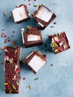 Raspberry And Rose Petal Rocky Road   Donna Hay