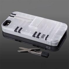 Funda para Iphone con caja de multi herramientas incluida en la parte trasera
