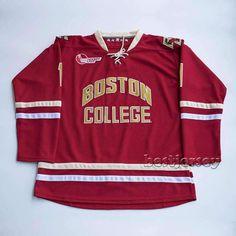 Boston College #1 Shneider NCAA Kowell Premier Stitched Hockey Jersey