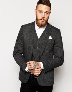 ASOS Slim Fit Blazer In 100% Wool