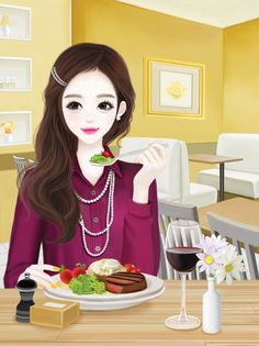 Find images and videos about cute, kawaii and Enakei on We Heart It - the app to get lost in what you love. Cute Kawaii Girl, Cute Cartoon Girl, Cartoon Art, Korean Anime, Korean Art, Cute Korean, Korean Illustration, Illustration Girl, Pop Art Fashion