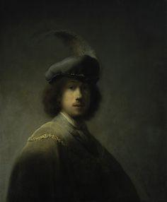 Self-Portrait, Aged 23; Rembrandt van Rijn, 1629; Isabella Stewart Gardner Museum, Boston