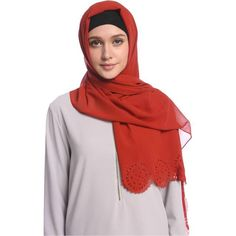 Chiffon Cut Out Hijab