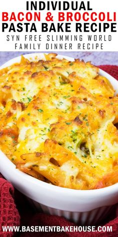 This recipe for syn free Individual Syn Free Bacon & Broccoli Pasta Bake is an e. - This recipe for syn free Individual Syn Free Bacon & Broccoli Pasta Bake is an ea… # - Slimming World Pasta Bake, Slimming World Dinners, Slimming World Recipes Syn Free, Slimming Eats, Baked Pasta Recipes, Cooking Recipes, Recipes Using Bacon, Cooking 101, Milk Recipes