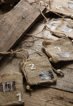 Burlap stringer (or paint red & green with Christmas calendar.)