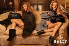 Karlie Kloss and Caroline Trentini for Bally F/W 2011. Photo by Steven Meisel.
