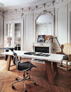 Klassiek | modern chic | visgraat vloer | klassieke ornamenten | warme kleuren - Makeover.nl