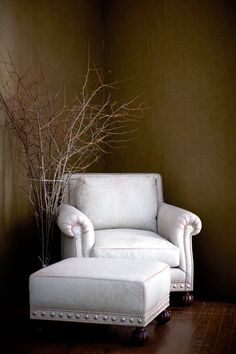Presenting Iconic Design from Ralph Lauren Home The Aran Isles Chair and Ottoman Explore Now