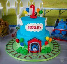 Thomas the Tank Engine 2 tier cake