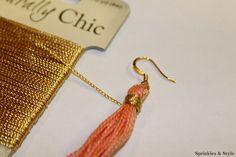 DIY: Tassel Earrings http://www.sprinklesandstyle.com/2012/06/diy-tassel-earrings.html
