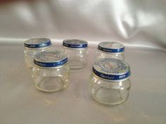 Storage Jars, Baby Food Jars, Glass Jar Lot of 5, Beechnut and/or Gerber Brands, Gift Idea, Gift Idea 4 Him or Her, Collectible, Crafting by AnniMaesCollectibles on Etsy
