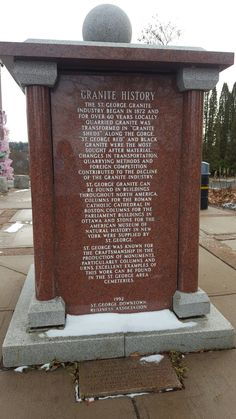 St George's granite history. Portage St. NB Canada