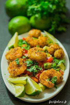 Crevettes Cajun et Salsa Caliente - Food for Love