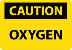 CAUTION, OXYGEN, 10X14, STICKER