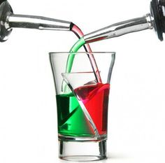 Twister Shot Glass ~ There are many approaches to blissful alcoholic intoxication, and while one of the more popular relies on cold carbonated cereal, many people prefer the more complex cocktails and shots. There are many ways to mix your poisons and with this shot glass, there's one more.