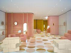 French Architect India Mahdavi designs the first RED Valentino store in London (via Dezeen) Boutique Interior, Retail Interior, Best Interior, Luxury Interior, Commercial Design, Commercial Interiors, Design Furniture, Luxury Furniture, Architecture Design