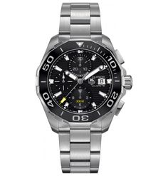 9c641a29b TAG Heuer Mens Aquaracr Analog Display Swiss Automatic Silver Watch      Visit the image link more details.