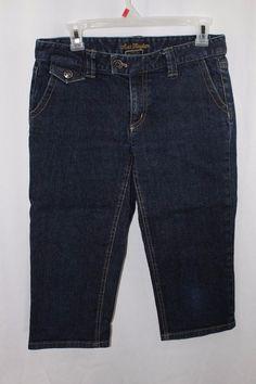 Womens Ann Taylor Jean Denim Bermuda Shorts Lindsay Waist Size 6 Petite  #AnnTaylor #CasualShorts