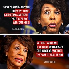 Maxine Waters visceral loathing of Trump has driven her to rationalize irrational positions! Her hatred for Trump is completely skewing her thought. She is embracing madness! ~ RADICAL Rational Americans Defending Individual Choice And Liberty Liberal Hypocrisy, Liberal Logic, Stupid Liberals, Politicians, Socialism, Satire, Maxine Waters, Political Quotes, Humor