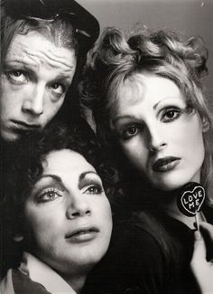 Factory crowd: Jackie Curtis, Holly Woodlawn, and Candy Darling.