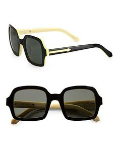 Karen Walker * Cabbie Square Sunnies #GiveSaks