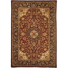 Featuring an impressive oriental-style floral pattern, this Astoria Grand Carnasheeran Burgundy/Navy Area Rug will greatly enhance the decor of whichever room you choose to place it in. Hand woven from wool, this rug is made using a tufted weaving technique for better durability and greater longevity. Ideal for indoor use, this rug features complex and detailed motifs and floral patterns centered on an Oriental theme, which are spread against a deep burgundy background. This Carnasheeran...