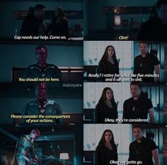 """*************** CIVIL WAR SPOILERS DO NOT READ LOOK AWAY CIVIL WAR SPOILERS ************** """"I retire for five minutes"""" oh Clint"""