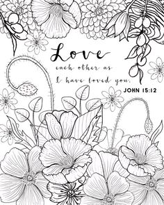 John 15:12 Coloring Page Love Coloring Page Adult Coloring